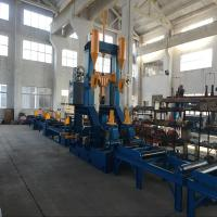 Quality High Efficiency H-Beam Assembly and Welding with Straightening Combination Workstation for sale