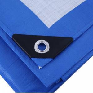 China Korea virgin material waterproof PE Tarpaulin factory with black corner on sale