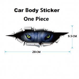 China 3D Effect Waterproof Car Stickers PVC Vinyl Printing Custom Bumper Stickers on sale