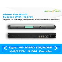 8 Channel Super HD Digital TV Encoder , Mpeg4 Video Encoder H 264 IP ASI Output