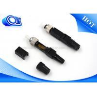 Buy cheap Black Field Assemble Quick Connect Fiber Optic Connectors Single Mode from wholesalers