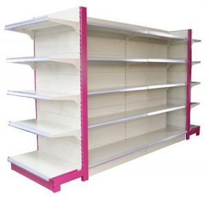 Buy Custom Supermarket Display Shelving Metallic Gondola Shelf Anti - rust at wholesale prices