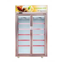China 1250L 2 Glass Door Commercial Freezer With Five Layer Shelves Environmental Protection on sale