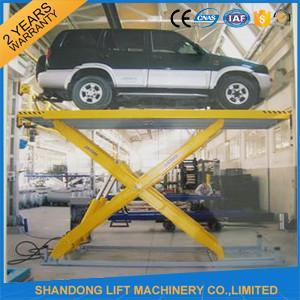 Quality Automotive Scissor Lift Equipment ,  Garage Hydraulic Scissor Car Lift Rentals for sale