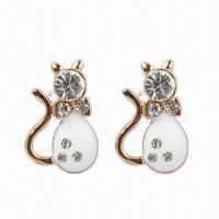 Quality Fashionable Earrings, Made of Alloy, Available in Various Styles for sale