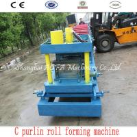 Quality 415V C Purlin Roll Forming Machine For 80-300mm C Steel Purlin for sale