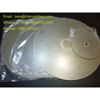 """Quality 8"""" Coated Diamond Flat Lap Disc with Grit 320 1mm thickness for glass working for sale"""