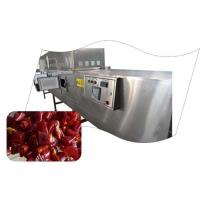 Quality Circulatory System Microwave Drying Equipment , Chili Powder Processing Machine for sale