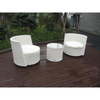 Buy cheap Waterproof White Resin Wicker Chair Set For Home / Restaurant from Wholesalers