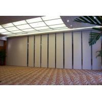 China Modern Collapsible Operable Acoustic Partition Wall Aluminum Frame Melamine Finish on sale