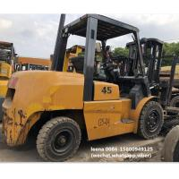 Quality used tcm 4.5ton FD45T9 diesel forklift , low work hrs, originally made in japan , 3 meters lifting height for sale