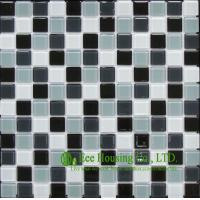 China 300mm*300mm Glass Crystal Mosaic Tile for Kitchen/Bathroom wall, Mixed Dark Color on sale