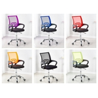 Quality Back Ribbed Pu Leather Ergonomic Mesh Executive Chair for sale
