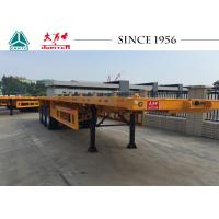 Quality 40 FT Flatbed Trailer With Spring Suspension For Container Transport for sale