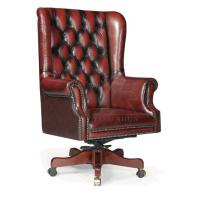 China luxury antique classic solid wood chesterfield swivel executive chair on sale