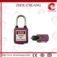 Quality 38mm Steel Shackle Safety Dustproof  Padlock with more color for sale