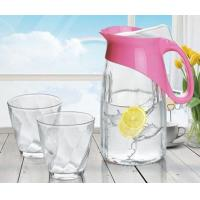 Quality Penguin Juice Glass Water Cup Set Jug Glassware 3Pcs Frosting Sprayed Available for sale