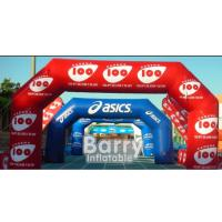 Buy cheap PVC Tarpaulin Inflatable Advertising Products Custom Inflatable Finish Line Race from wholesalers
