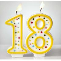 Custom Arabic Number Birthday Candles 1 To 18 With Colorful Dot No Harmful Images