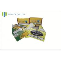 Quality Yellow Custom Herbal Incense Bags , Hand Roll Plastic Tobacco Pouch With Ziplock for sale