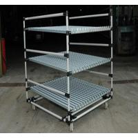 Quality Heavy Duty steel Pipe Rack with Caster Wheels , Lean Pipe and Black Pipe Joint Assemble for sale