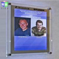 Quality Decorative Poster Frame Acrylic Led Light Box For A2 Size Picture , Wall Mounted for sale
