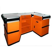 Quality Metallic Used Supermarket Checkout Counter / Cash Register Counter With Rust Free Material for sale