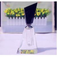 Quality Lead Free Empty Crystal Perfume Bottles Vintage Pink Perfume Bottle for sale