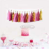 Quality Mixcolor Tassel Garland Paper Garland Christmas Birthday Party Decorations for sale