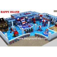 China New design Indoor Playground Equipment For Sale With Big Ball Pool And Three Big Plastic Slide In line on sale