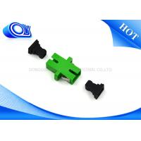 Quality SC APC To SC APC Green Fiber Optical Adapter / Fiber Coupler 1 Year Warranty for sale