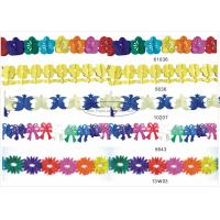 Quality 3m Multicolor Tissue Paper Garland Craft Decorations For Celebration Events for sale