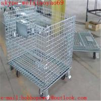 Quality galvanized wire mesh container/stackable storage bins/metal storage containers/ galvanized treatment storage cabinets for sale