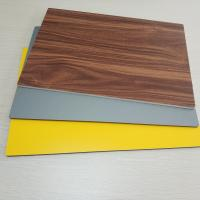 Quality Circular Cladding Wood Grain Aluminum Composite Panel Embossed Surface Density 2.5% for sale