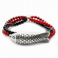 Quality Garnet Bracelet, Customized Colors Available, Made of 925 Silver Material for sale