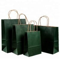 Quality Roller Printing Medium Paper Bags With Handles / Kraft Paper Bags Machine Made for sale