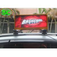 Buy cheap P6mm Full Color LED Taxi Top Advertising Sign Display with 4G Control from wholesalers