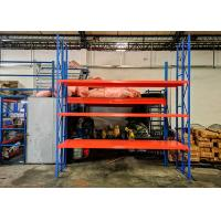 Buy cheap Three-Upright Frame Steel Plate Warehouse Storage Light Duty Rack from wholesalers