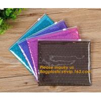 China Mini small pouches ziplock bags with slider zip plastic bags zipper bubble mailers with laser film/custom design bagease on sale