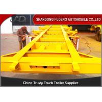 China 2 / 3 Axles Chassis Trailer / Load Capacity 50 Ton Shipping Container Trailer  on sale
