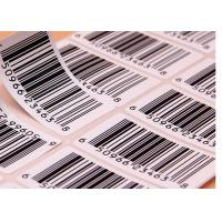 Buy Supermarket Barcode Stickers Roll / Thermal Print Sticker Labels Die Cut Shape at wholesale prices