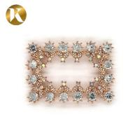 Buy cheap Charm Women'S Metal Shoe Buckle Accessory 70*45mm Size Vintage Style from wholesalers