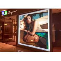 Quality Snap Frame Sign Illuminated Light Box Wall Mounted Artwork Display With Aluminum Profile for sale