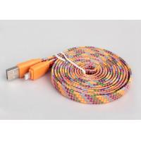 Quality 4ft Flat MFI Certified Cable For Apple Multicolor High Gloss Braided Textile for sale