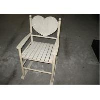 Buy cheap Custom Wood Contemporary Modern Dining Room Chairs In Ivory Color Heart Back from Wholesalers