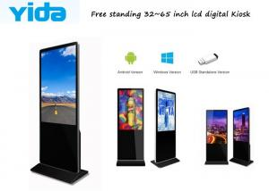 China 43 Inch Indoor Floor Standing Advertising Lcd Touch Screen Digital Signage Totem Kiosk Remote Control Wifi Android on sale
