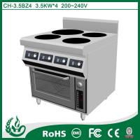Quality CH-3.5BZ4 chuhe brand commercial induction range with oven for sale