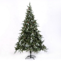 China Wholesale 8 ft white Frosted Mixed PVC&PE Artificial Christmas Decoration Tree on sale