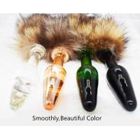 China Fetish Furry Wild Fox Tail Glass Anal Plug Slave Cosplay Couple Flirting Products Anal Beads Plug Tail Sex Toys on sale