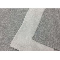 Quality SGS Approval 100% Cotton Knit Fabric / Plain Dyed Grey Polyester Fabric for sale